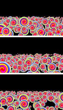 棒棒糖彩虹圈动感旋转卡通通道视频素材
