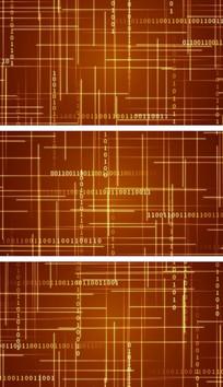金色科技线条网格空间视频背景素材