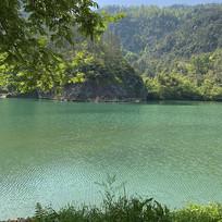大陈岛湖水溪水风景照