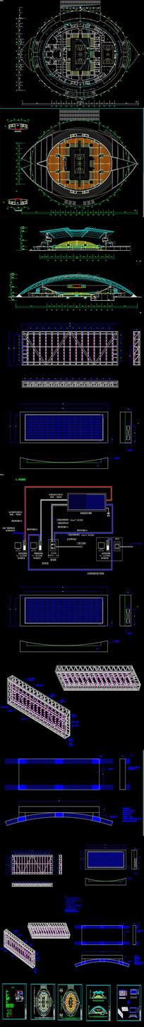 全套体育馆LED屏CAD图纸