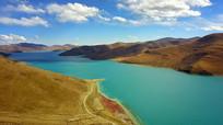 奇特地貌高山湖泊自然风光背景