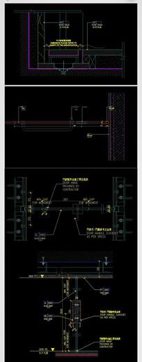 CAD石材干挂建筑节点大样图施工图剖面