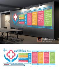 大气妇科医院文化墙设计