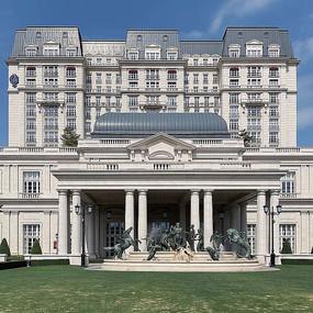 歐式建筑酒店意向圖 JPG