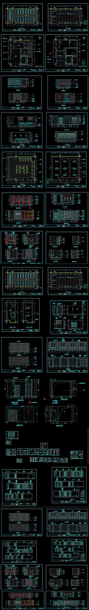 社区办公室CAD施工图 dwg
