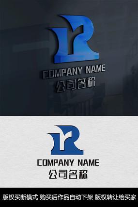 R字母logo标志 CDR