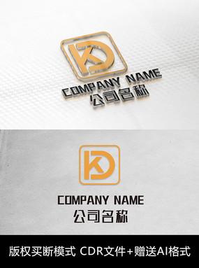 KD字母logo标志字母商标设计 CDR