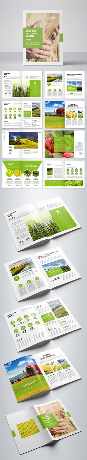 绿色农产品画册设计 AI