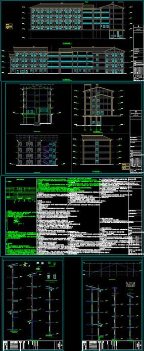 现代公寓建筑及节能CAD施工图设计 dwg