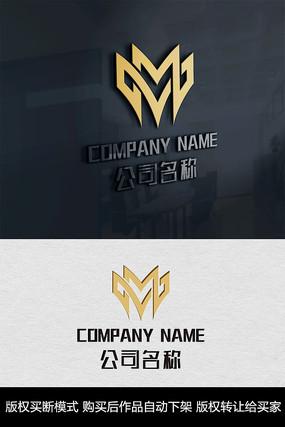 M字母logo标志商标 CDR