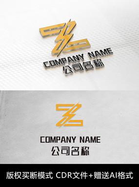 Z字母logo标志商标设计 CDR