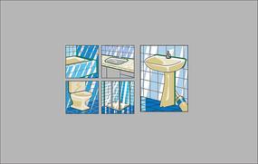 浴缸,洗手台,洗手盆,马桶,淋浴房 AI