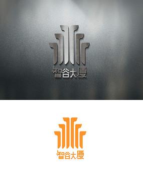 智谷大厦房地产LOGO标志 AI