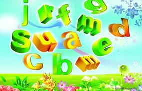 3D立体英文字母设计