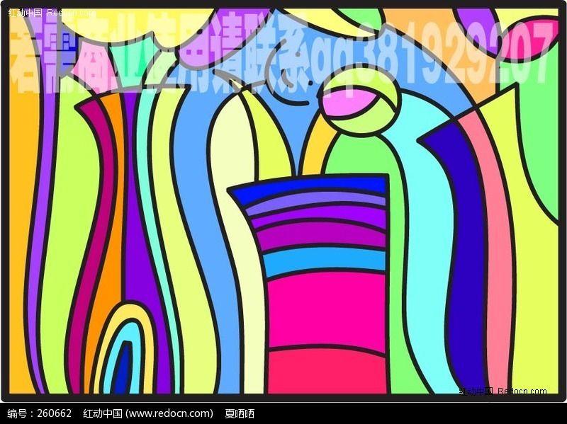 标签:抽象 装饰画 色块 卡通  几何 小孩 可爱 配色 色彩