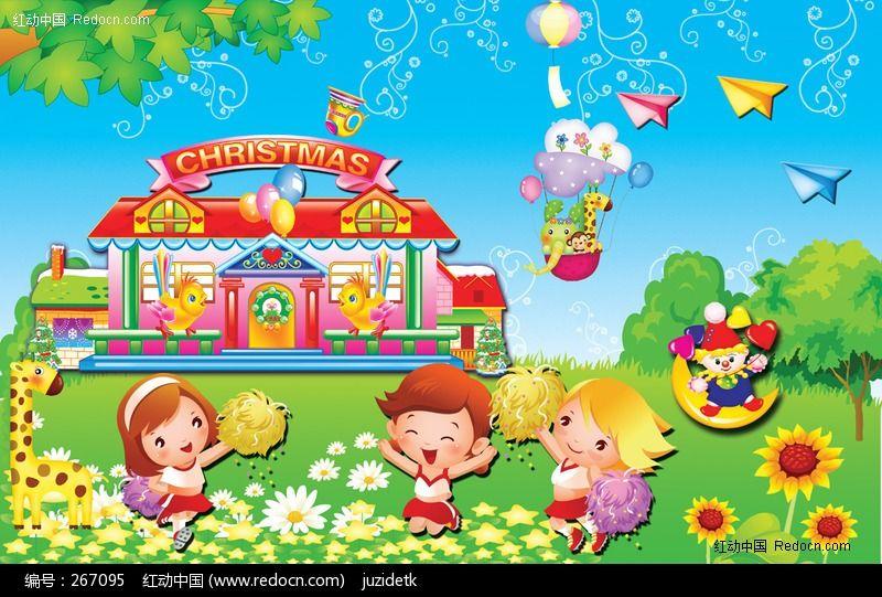 六一儿童节幼儿园卡通图片素材psd下载