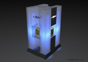 润滑油展柜3d模型