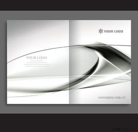 银色金属产品画册封面PSD设计