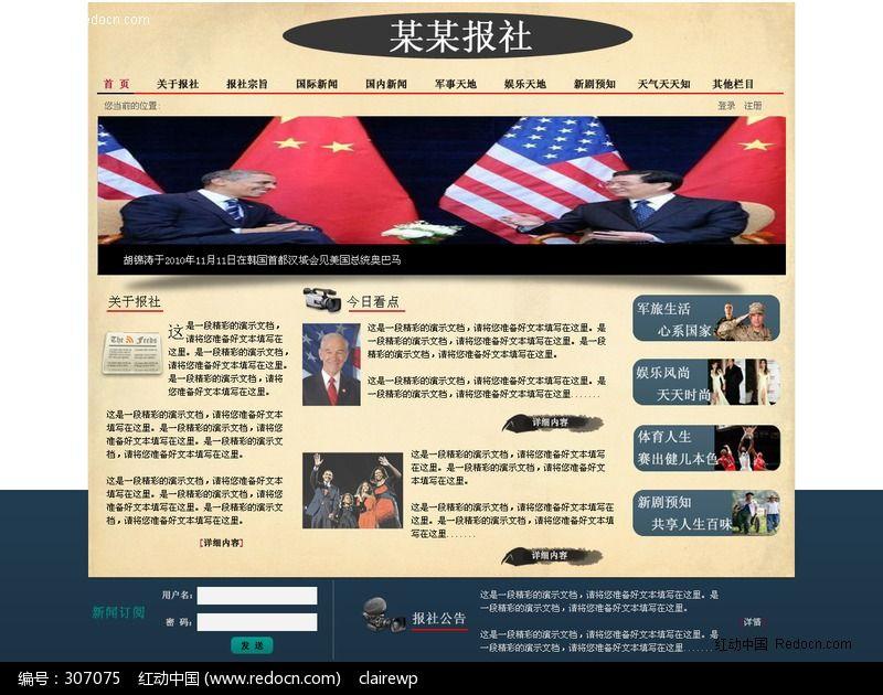 报社网站网页设计图片