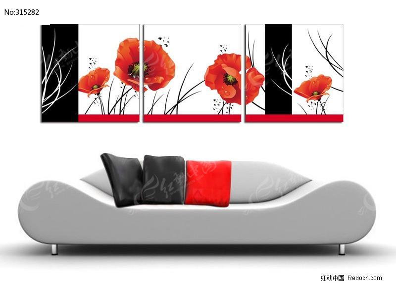 花朵矢量无框装饰画图片