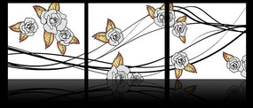 玫瑰花藤无框装饰画