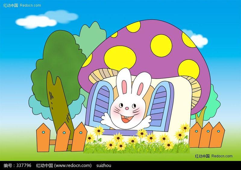 幼儿园卡通展板背景素材