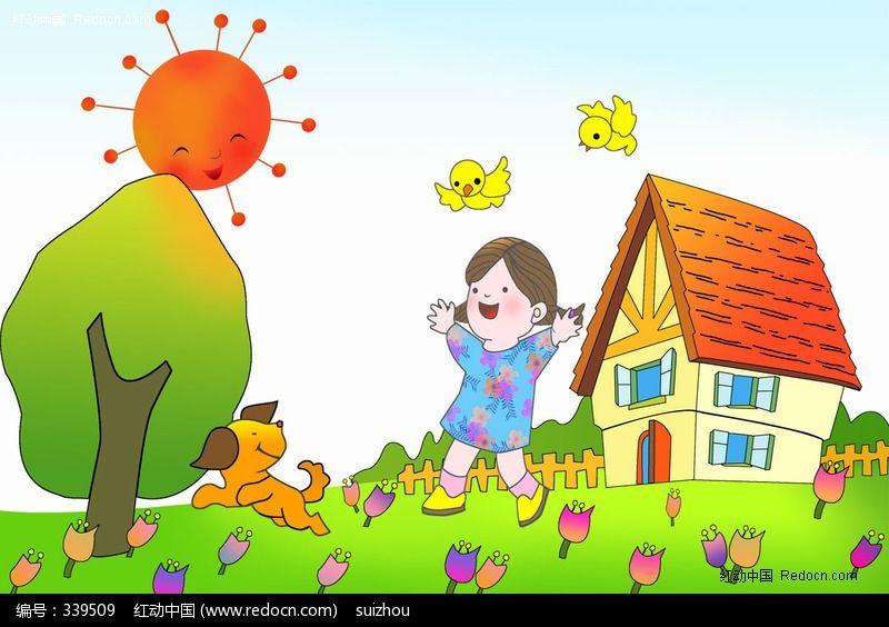 幼儿早睡早起_早晨卡通画图片
