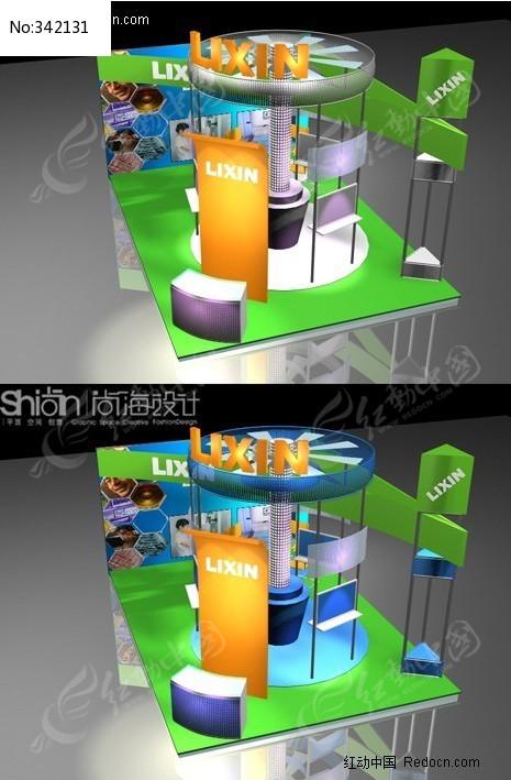 电子科技数码展览会展台设计3DMAX模型图片
