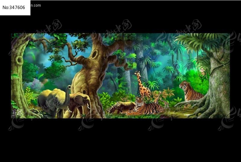 森林之恋 森林风景  动物盛会