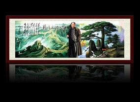 江山如此多娇宽幅装饰画