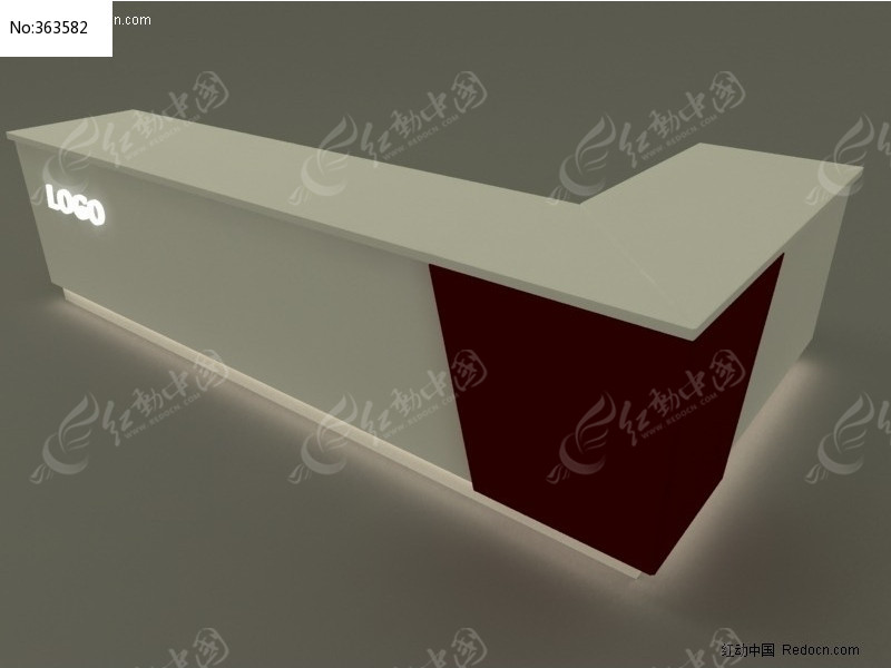 _前台设计3d模型--l型