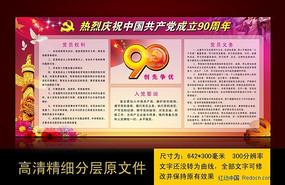 庆祝中国共产党成立90周年板报设计