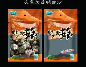 干货食品包装 野生香菇包装袋设计