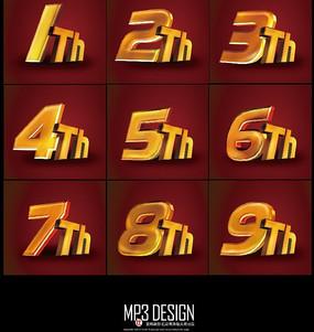 超强质感数字psd字体设计