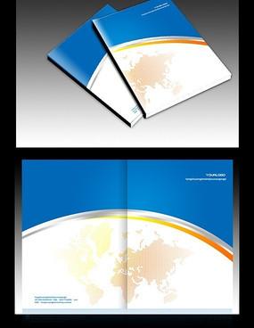 简洁企业宣传画册封面设计