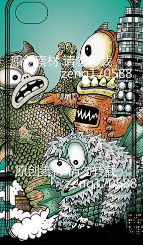 生物掠夺动漫插画