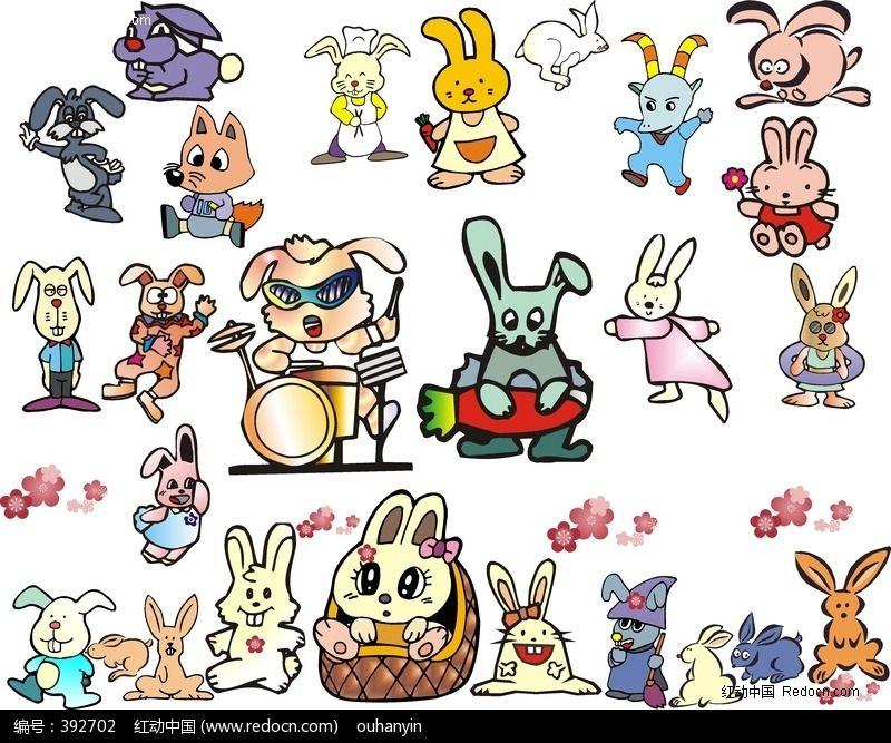 卡通动物形象图案设计