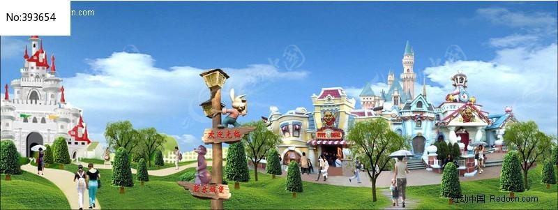幼儿装饰画城堡
