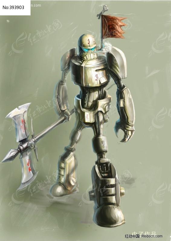 ps绘画 机器人