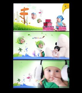 宝宝相册模板设计 PSD