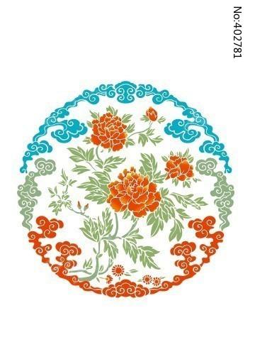 原创设计稿 卡通图片/插画 花纹插画 牡丹花团(色彩)  请您分享: 红动