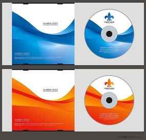 蓝色光盘设计矢量图 CDR