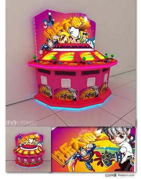 游戏机台设计(效果图+三维模型)