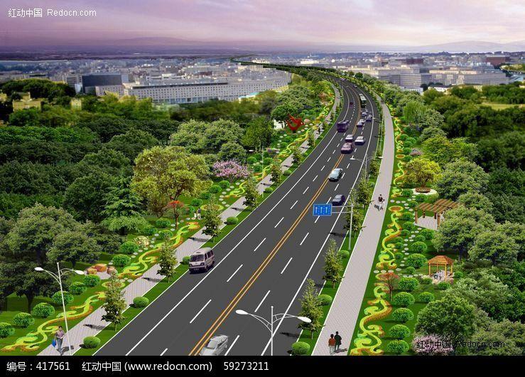 高速路绿化景观设计模板下载(编号:417561)