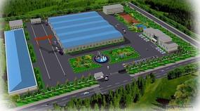 厂区景观规划鸟瞰图