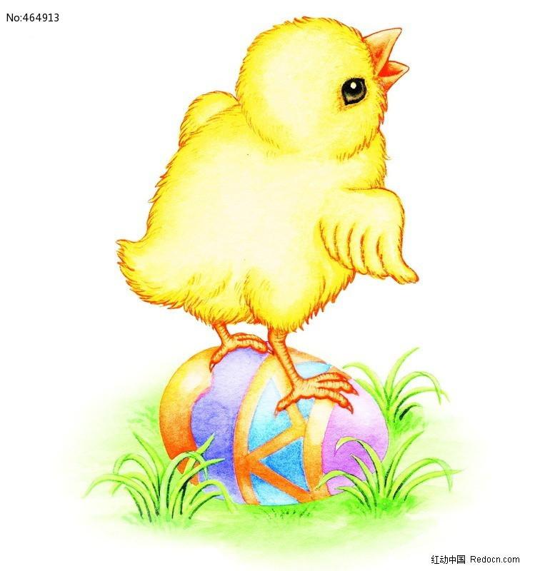 原创设计稿 卡通图片/插画 动物插画 彩蛋上的小鸡