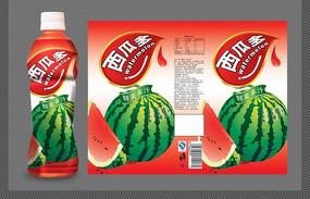 西瓜多瓶标设计