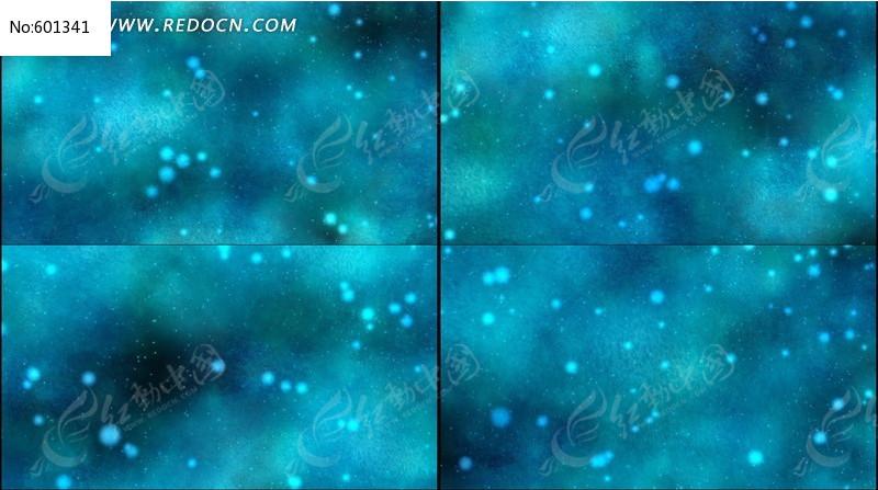 视频素材粒子片头唯美动感蓝色_背景视频/婚礼不视频出播图片