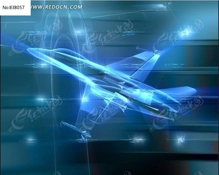 飞机透明高清视频背景素材