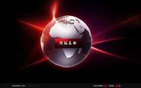 旋转地球flash网站源文件